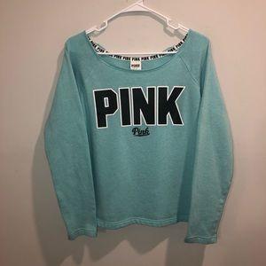 Victoria's Secret Pink Teal Blue Sweatshirt Shirt
